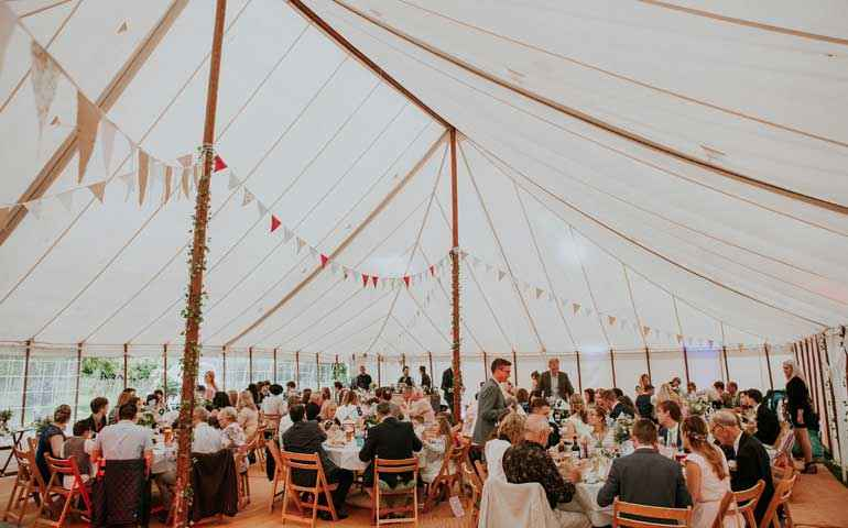 60x40 unlined traditional marquee