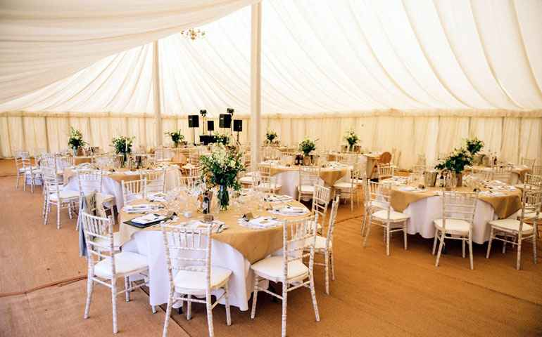 80x40 lined traditional marquee hire Essex