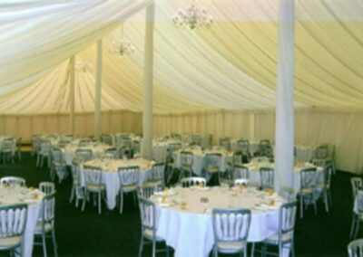 Interior shot of a large traditional marquee
