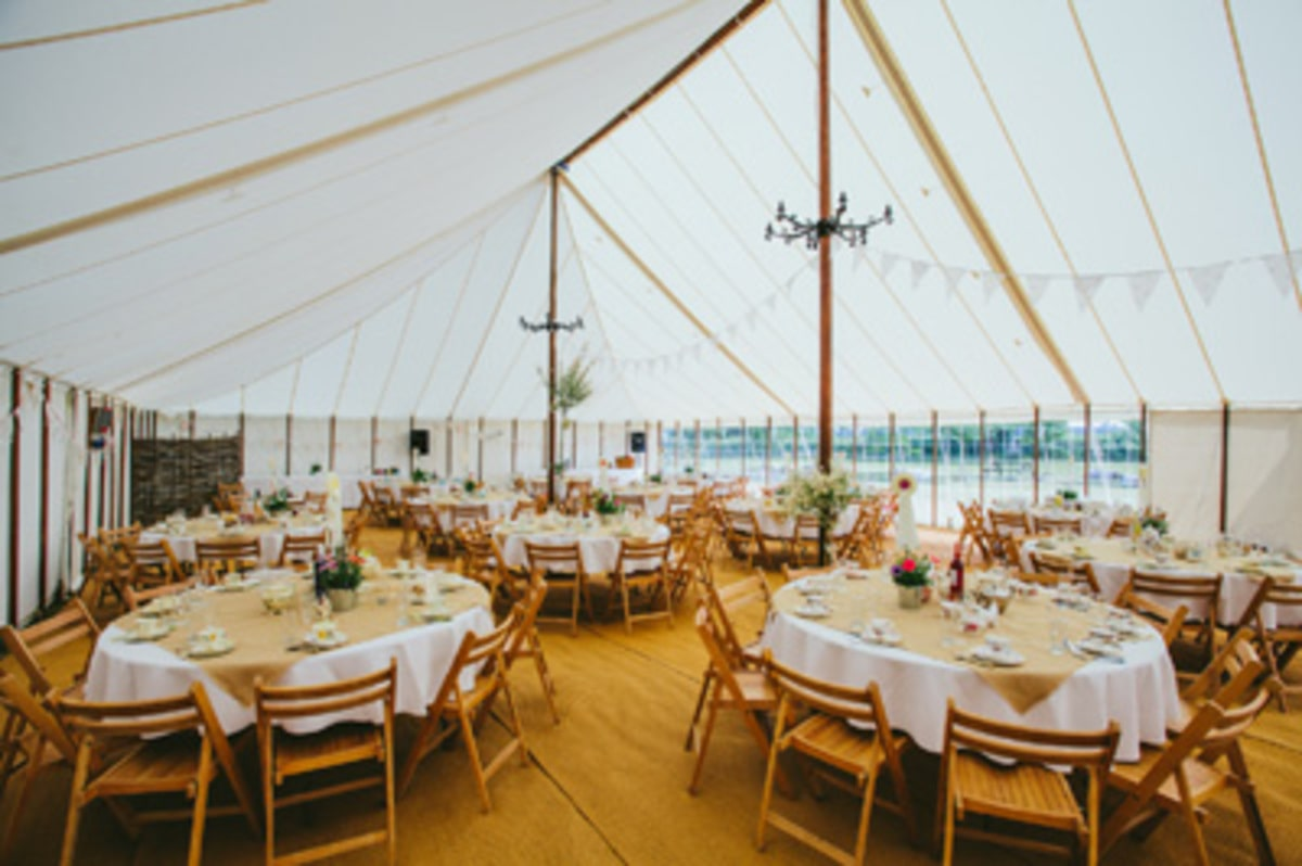 Interior shot of a traditional marquee by County Marquees East Anglia
