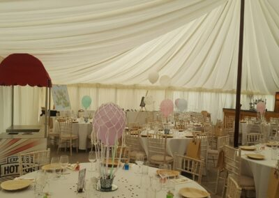 Traditional lined marquee by County Marquees East Anglia