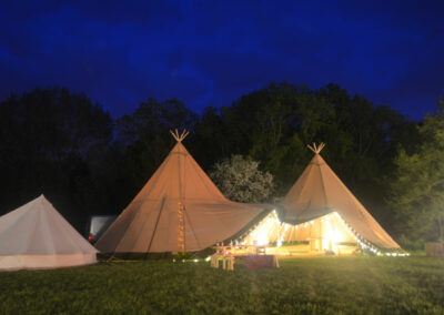 Tipi wedding marquee Essex night tipi