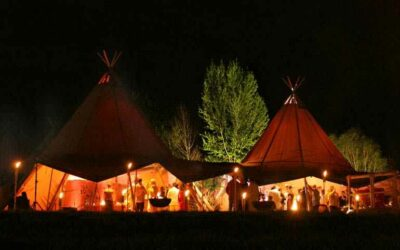 Why hire a Tipi for your cosy Winter wedding?