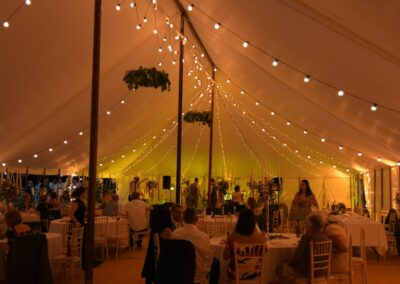 Traditional Marquee at night | County Marquees East Anglia