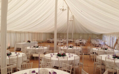 What types of tables and chairs would suit my marquee wedding best?