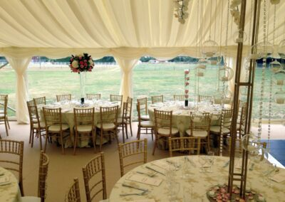 Inside a wedding marquee in Essex - Clear Span marquee | County Marquees East Anglia