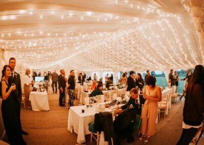 Interior shot of clear span marquee for wedding in Essex | County Marquees East Anglia