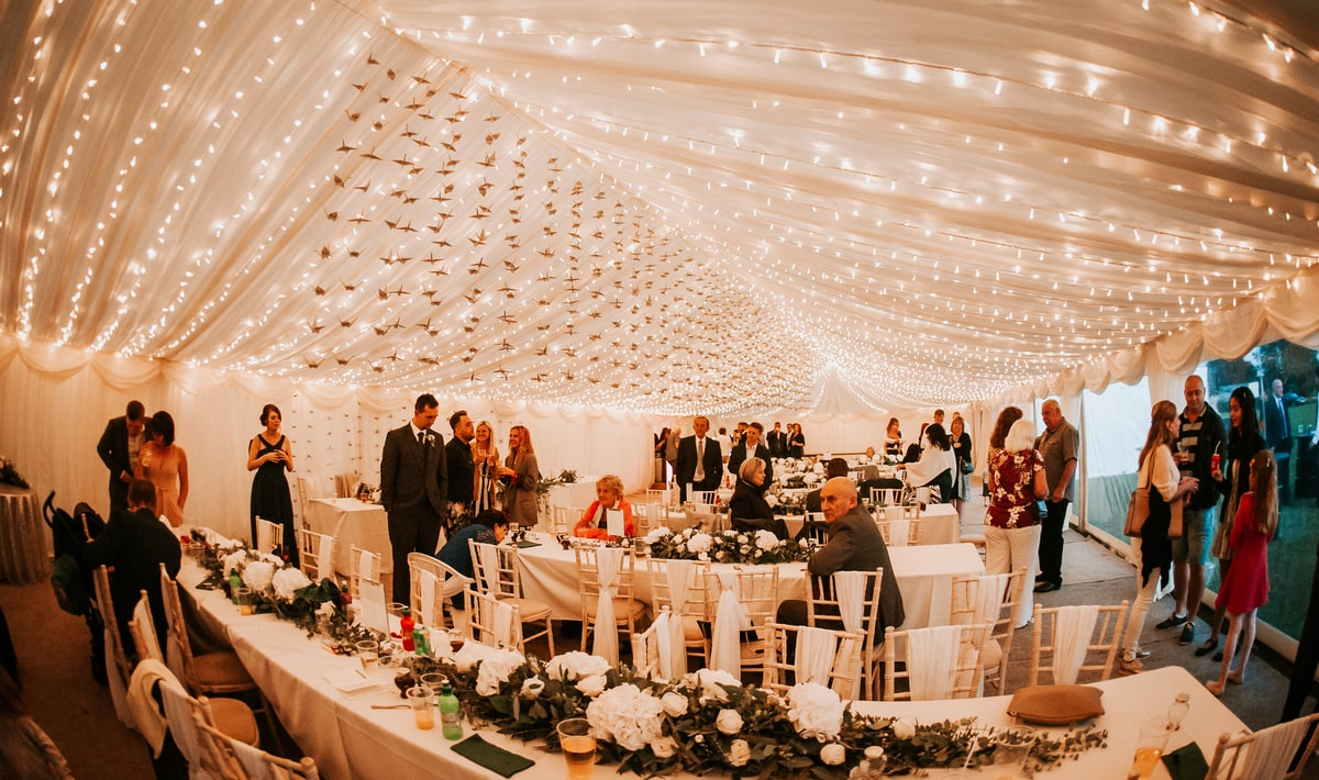 Marquee Hire in Essex | clear span marquee hire for wedding reception in Essex | County Marquees East Anglia