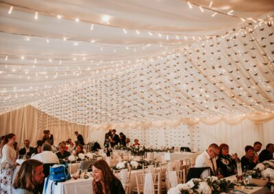 Decorated clear span marquee in Essex | County Marquees East Anglia