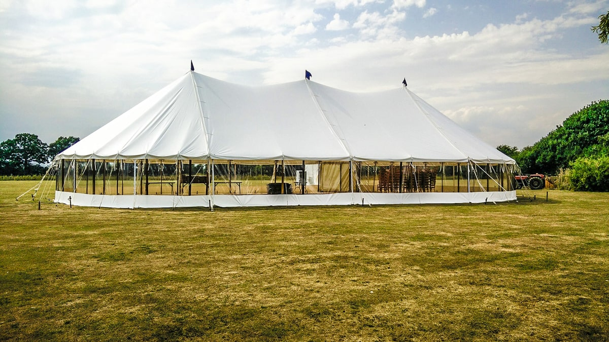 Large sail cloth marquee hire Essex, Suffolk and Norfolk | County Marquees East Anglia