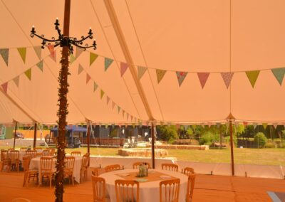 Close-up interior shot of one of our Sail Cloth Marquees in Essex | County Marquees East Anglia