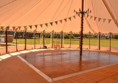 Interior shot of sailcloth marquee in Essex | County Marquees East Anglia