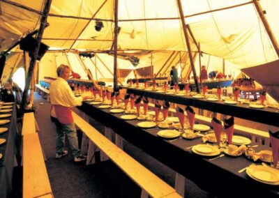 Inside a wedding tipi in Essex | County Marquees East Anglia