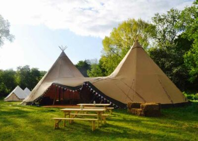 Tipi and Bench Hire Essex, Norfolk and Suffolk | County Marquees East Anglia