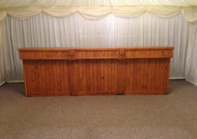 Light Oak bar front | Essex, Suffolk & Norfolk | County Marquees East Anglia