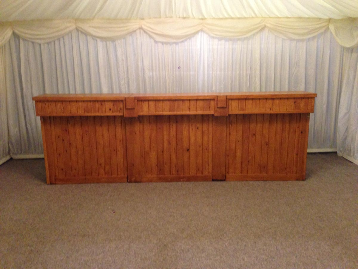 Small light oak bar front