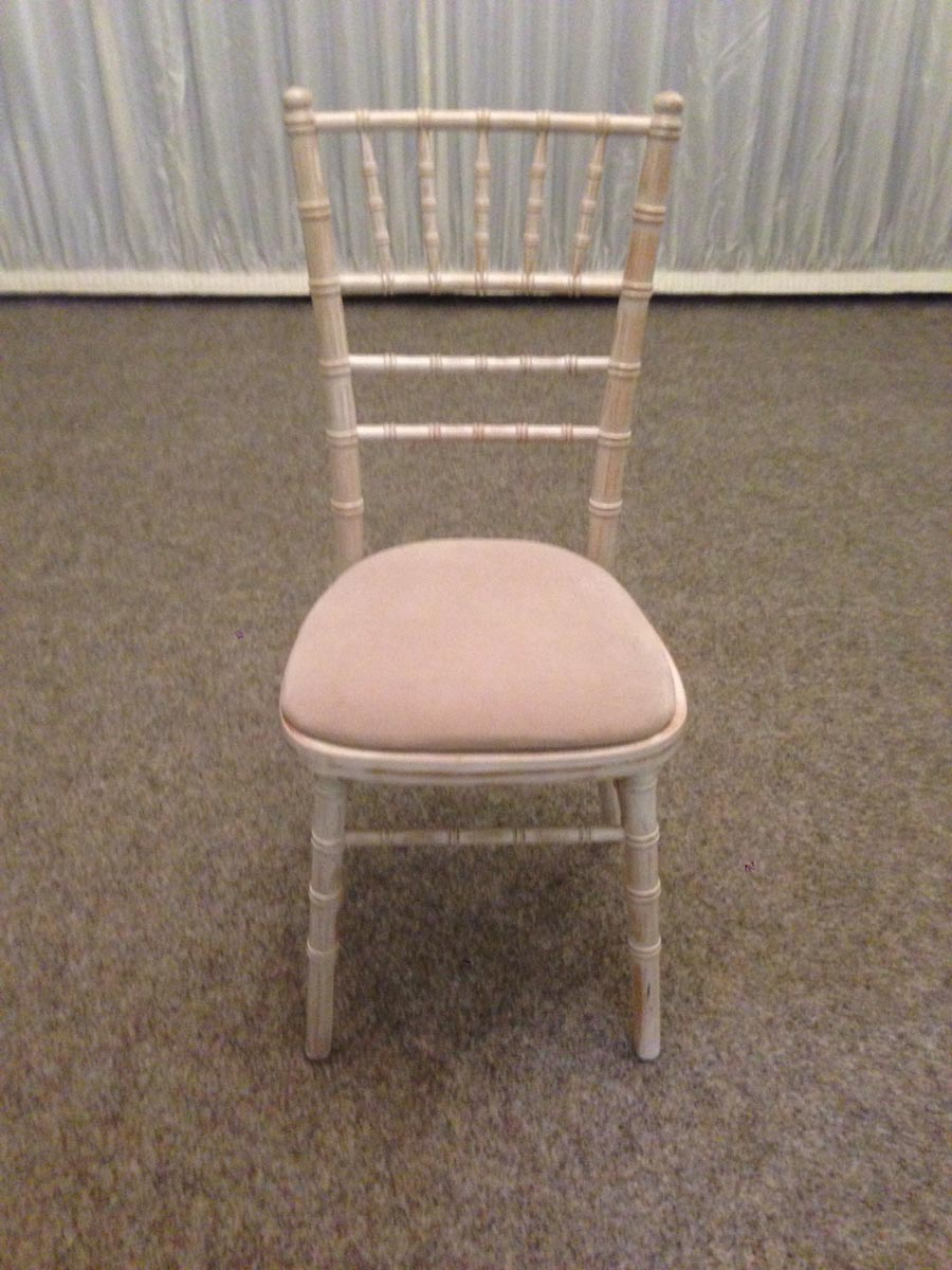 Small limewash chivari chair