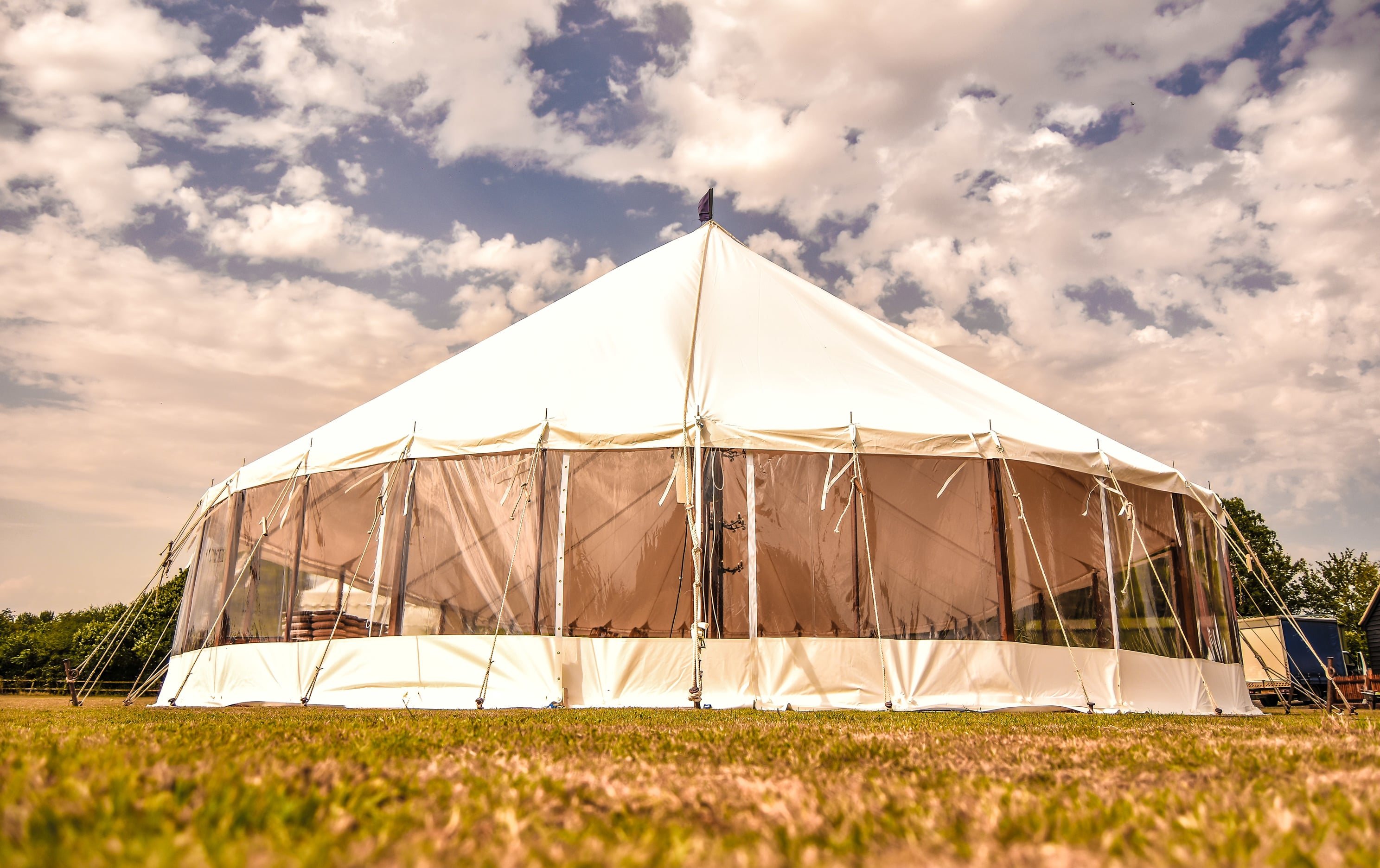 Essex marquees, Sail cloth marquee from County Marquees East Anglia