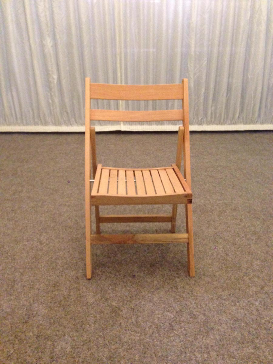 Small wood folding chair