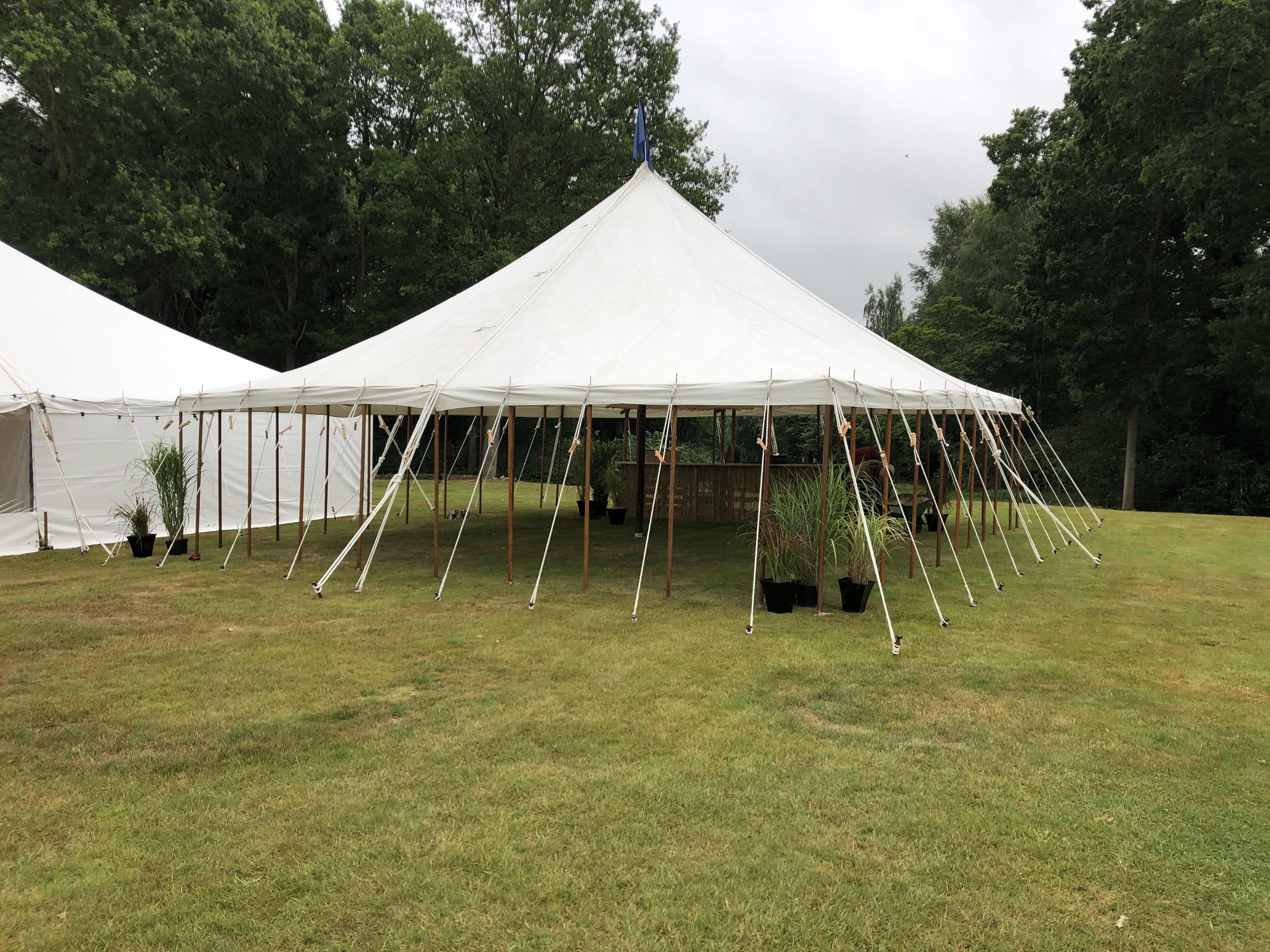 Canopies hired from County Marquees East Anglia for bar