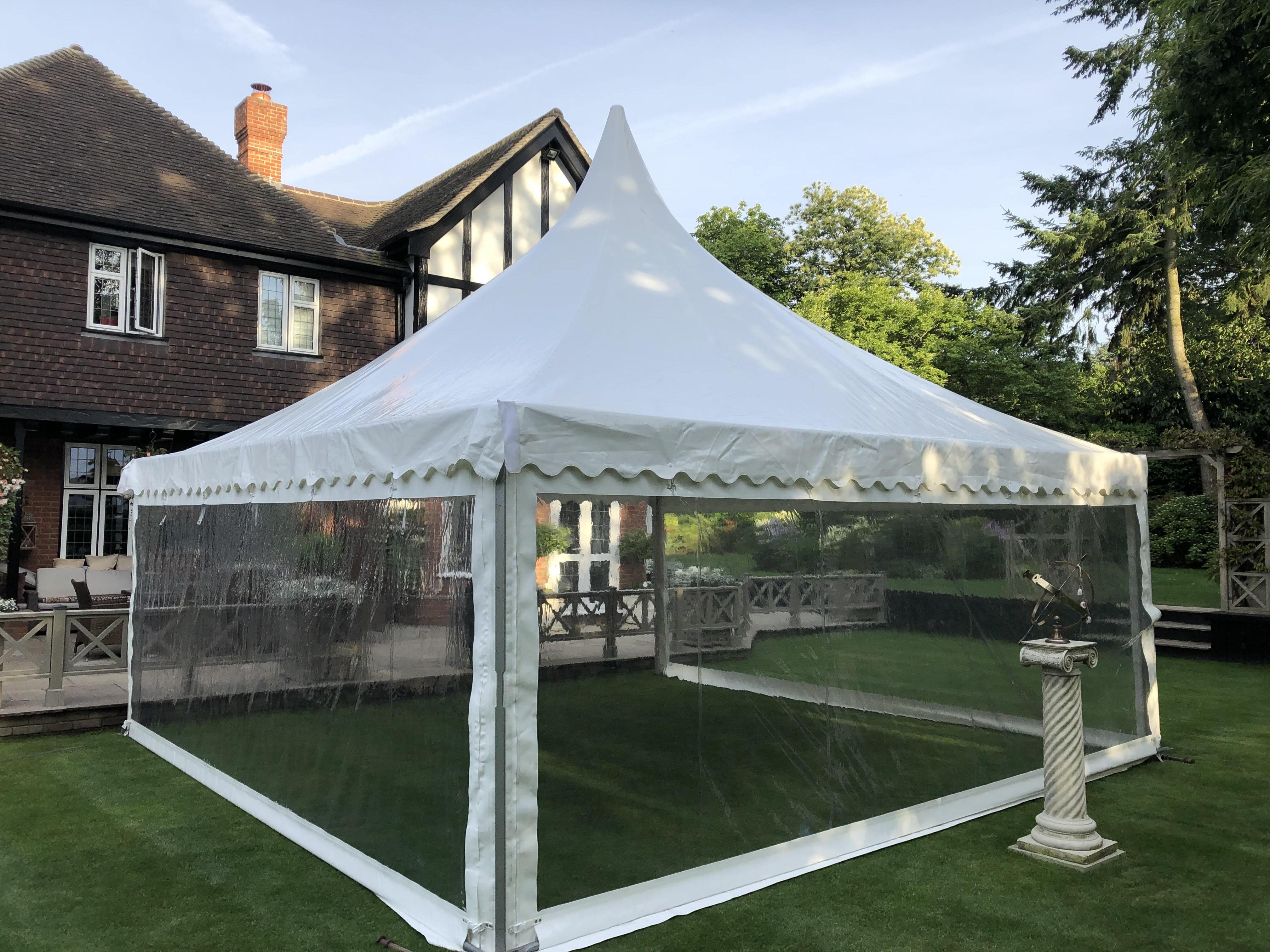 Chinese Hat marquee hire by County Marquees East Anglia Canopies and pagoda