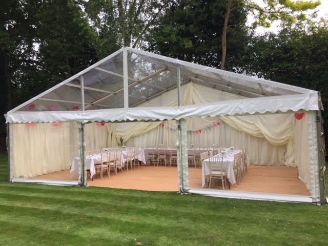 Clear Span Marquee Hire in Essex by County Marquees East Anglia