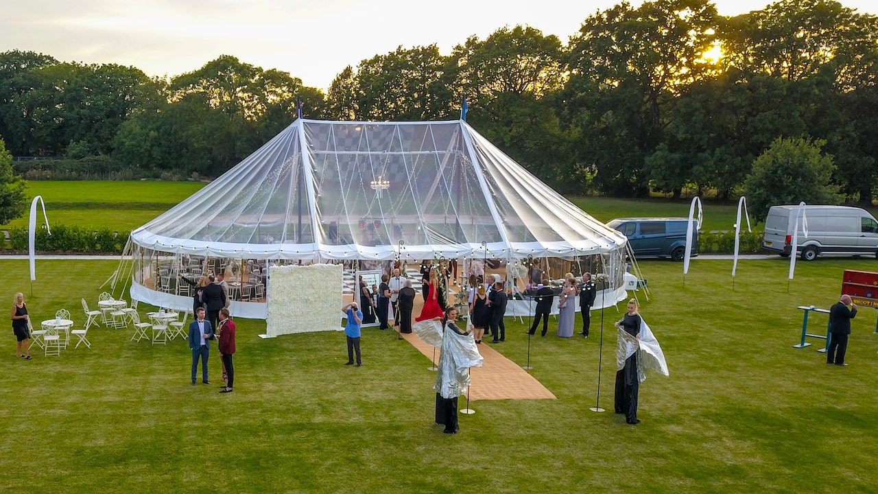 Transparent Marquee at a wedding in Essex | County Marquees East Anglia