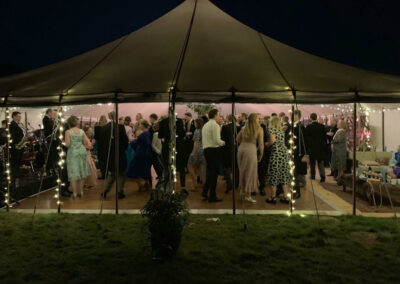 Traditional marquee hired by County Marquees East Anglia