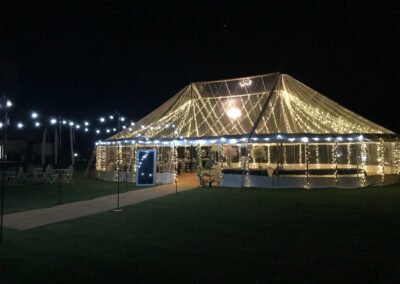 Transparent Marquee with Festoon Lighting | County Marquees East Anglia